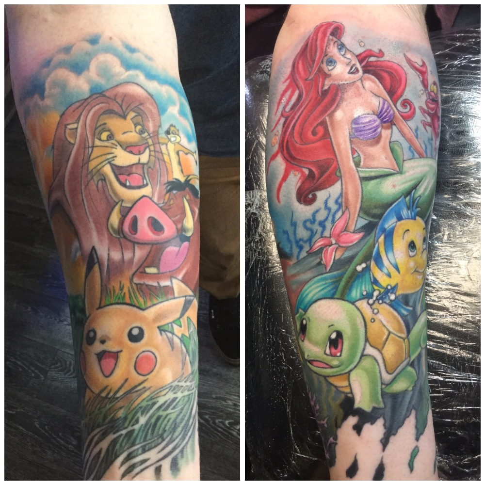 My Disney Pokemon Half Sleeve By Kyle Hediger At Raw Power Ideas And Designs