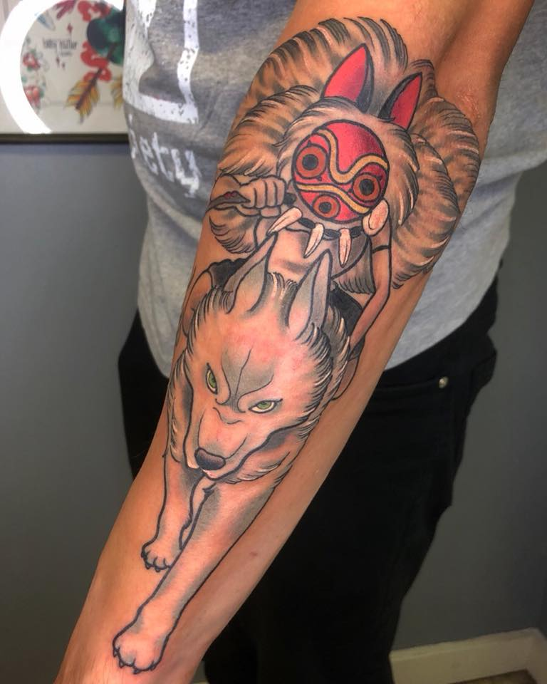 Princess Mononoke By Emily Cee At Alectric City Tattoo In Ideas And Designs