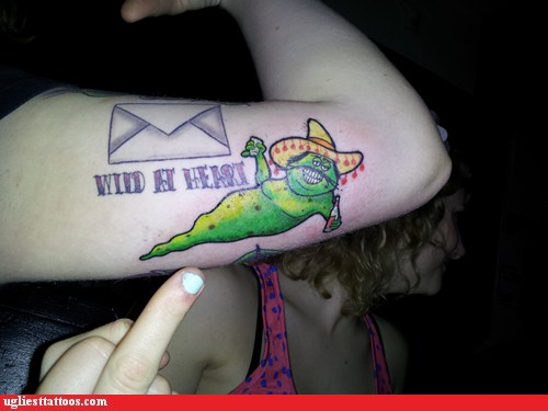 Ugliest Tattoos Mexican Drinking Worm Bad Tattoos Of Ideas And Designs