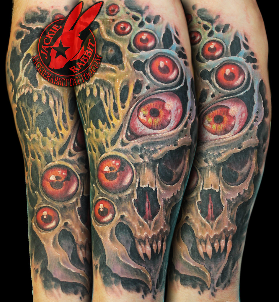 Monster Skull Eye Eyes Creepy Bio Organic Color Realistic Ideas And Designs