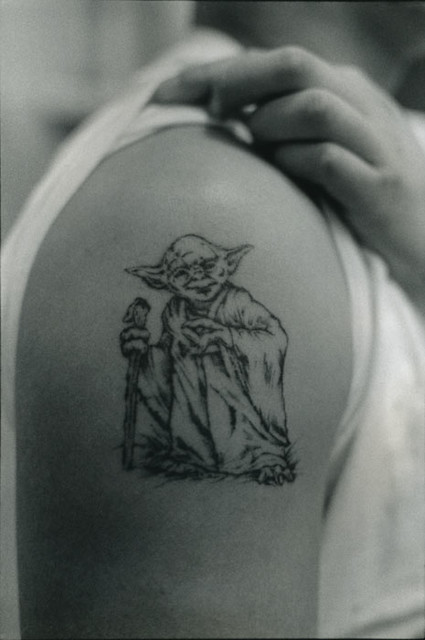 Yoda Tattoo On My Brother S Arm Nyc 1997 Or 98 Ideas And Designs