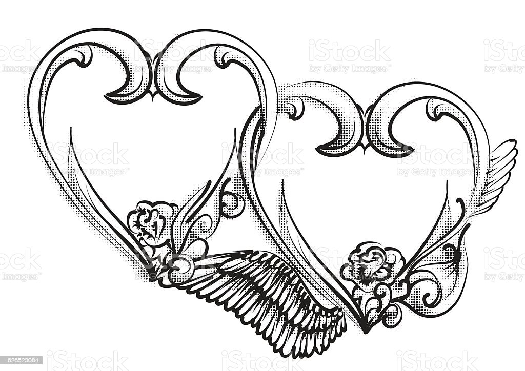 Top 60 Two Hearts Tattoo Designs Clip Art Vector Graphics Ideas And Designs