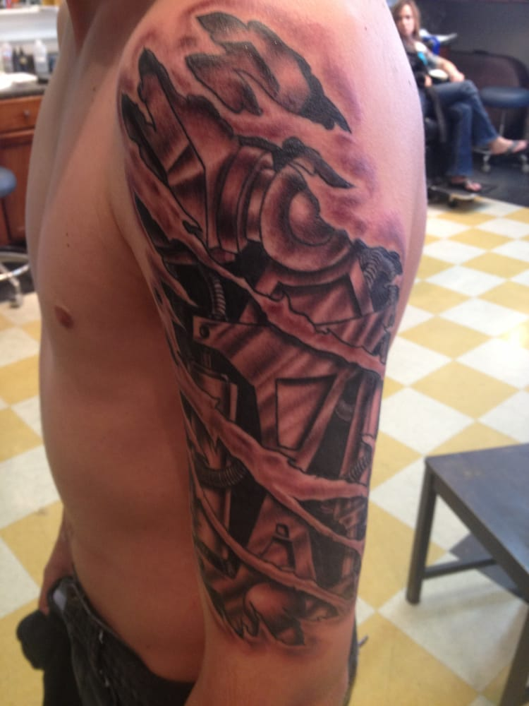 Robo Arm Tattoo By Chris Arredondo Absolute Tattoo Yelp Ideas And Designs