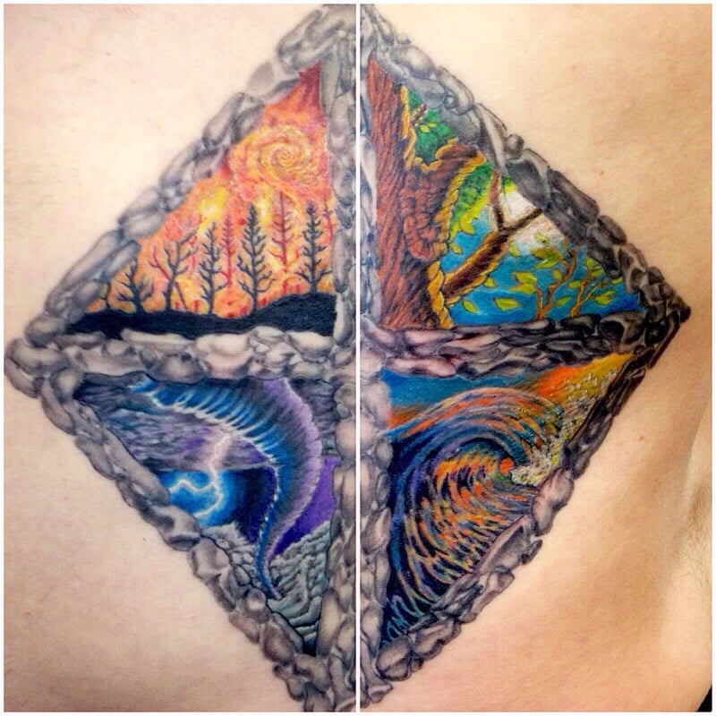 4 Elements Tattoo By Troy Harper Yelp Ideas And Designs