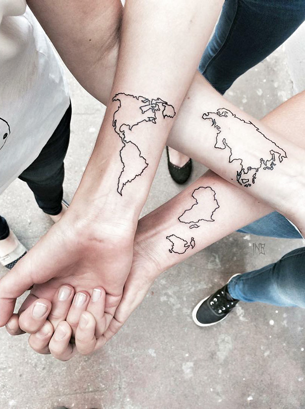 20 Best Friend Tattoo Ideas To Show Your Squad Is The Ideas And Designs