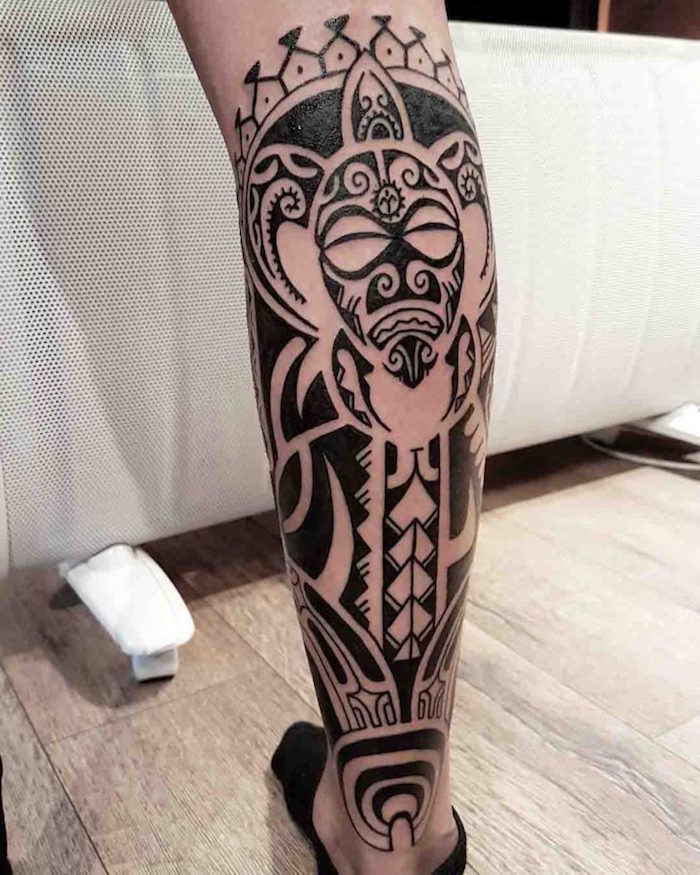 15 Tribal Tattoo Designs For Legs Dragon Tattoo Ideas And Designs