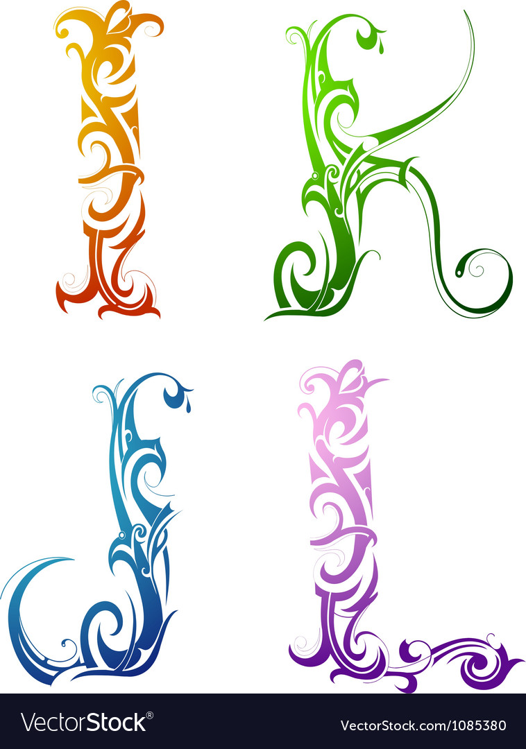 Tribal Tattoo Letters Royalty Free Vector Image Ideas And Designs