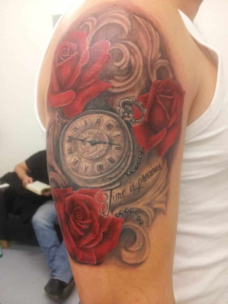 Clock Tattoo Designs 30 Incredible Collections Slodive Ideas And Designs