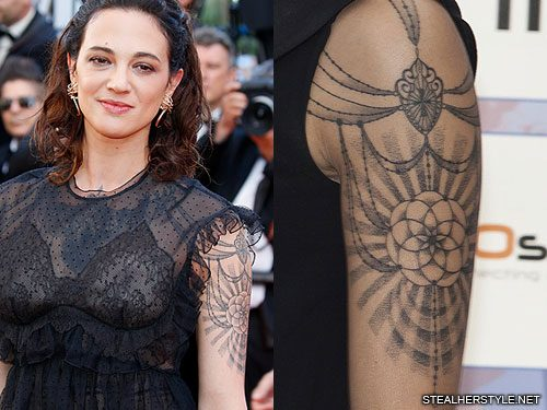 Asia Argento S 22 Tattoos Meanings Steal Her Style Ideas And Designs