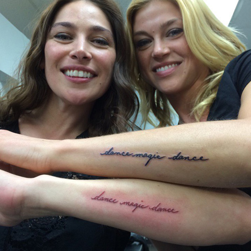 Adrianne Palicki Writing Forearm Tattoo Steal Her Style Ideas And Designs