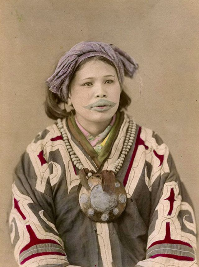 A Beauty To Give The Thrill 20 Vintage Portraits Of Ainu Ideas And Designs