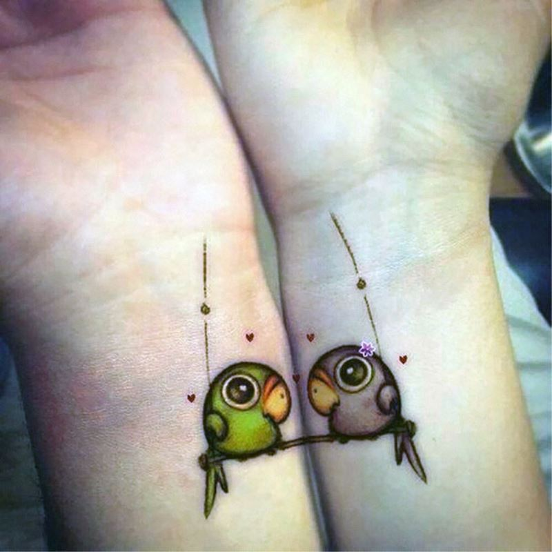 15 Adorable Matching Couple Tattoos – The Populars Blog Ideas And Designs