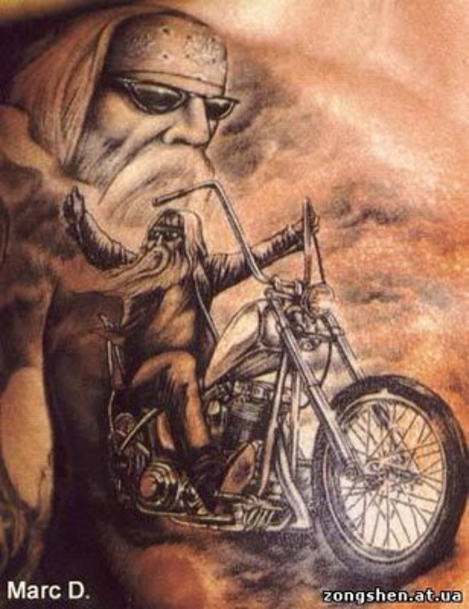 Motorcycle Biker Tattoos Tatring Ideas And Designs