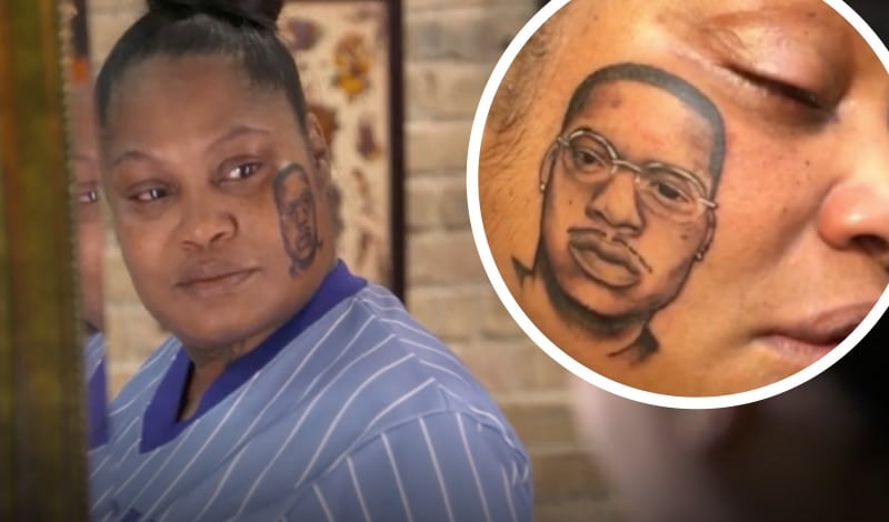 Grieving Mother Gets Face Tattoo Of Dead Son On Black Ink Ideas And Designs