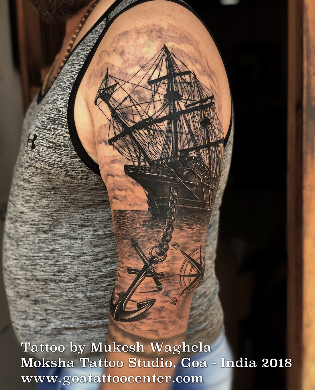 Travelling Tattoo Done By Mukesh Waghela At Moksha Tattoo Ideas And Designs