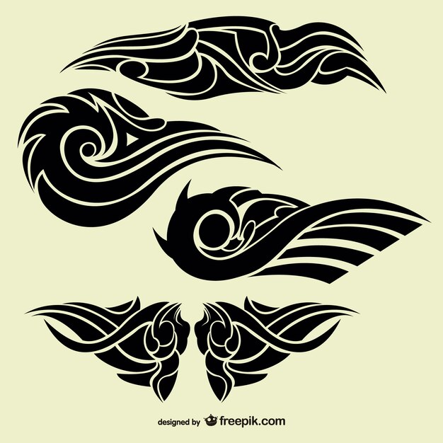 Tribal Abstract Tattoos Collection Vector Free Download Ideas And Designs