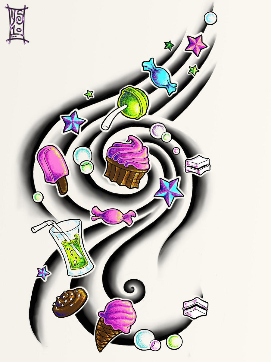 Candy Tattoo By Myandra On Deviantart Ideas And Designs