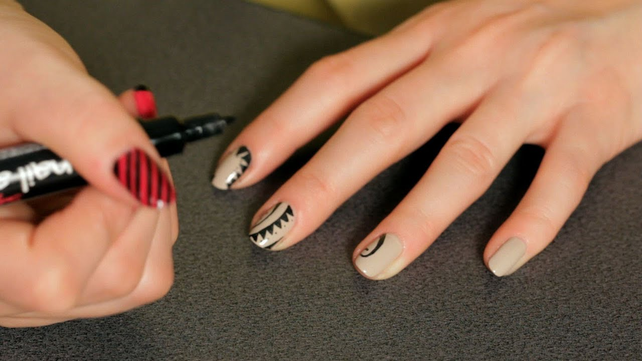 How To Do A Tattoo Design Nail Art Designs Youtube Ideas And Designs