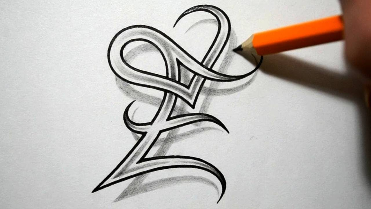 Initial E And Heart Combined Together Celtic Weave Style Ideas And Designs