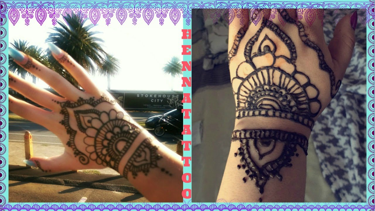 How To Do A Henna Tattoo Tumblr Hand Design Youtube Ideas And Designs