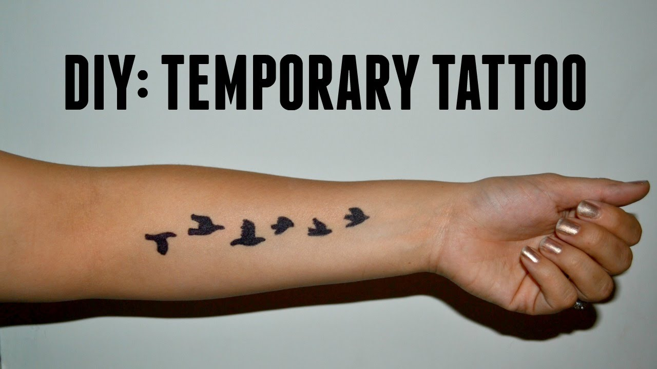Diy Temporary Tattoo Youtube Ideas And Designs