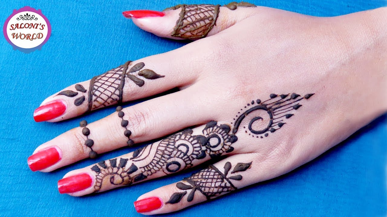 How To Apply Simple Finger Mehndi Designs Henna Tattoo Ideas And Designs