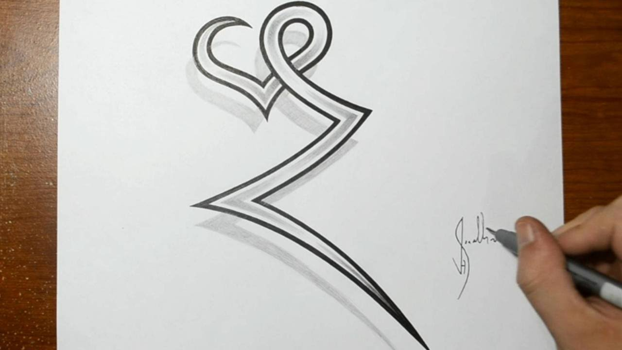 Drawing The Letter Z Combined With A Heart Tattoo Ideas Ideas And Designs