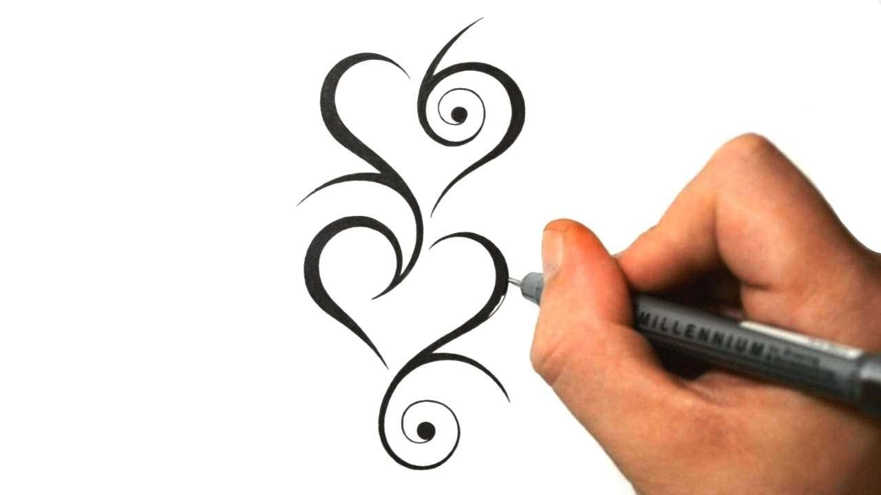 Designing Tribal Hearts Together Tattoo Design 8 Youtube Ideas And Designs