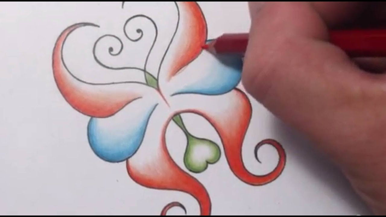 How To Draw An Abstract Butterfly With Hearts Tattoo Ideas And Designs