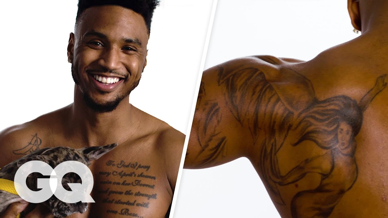 Trey Songz Breaks Down His Tattoos Gq Youtube Ideas And Designs