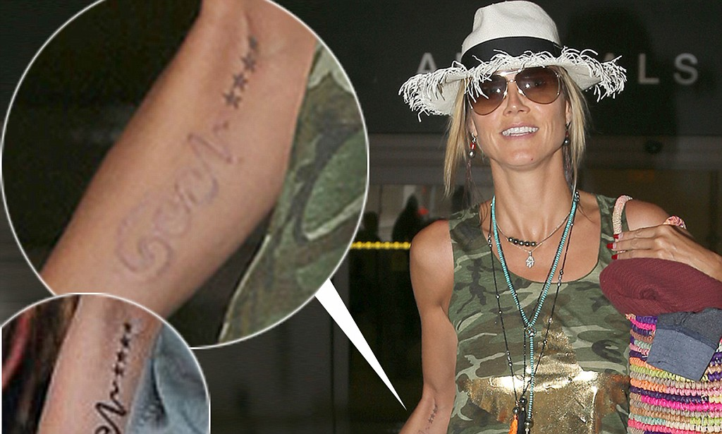 Heidi Klum Shows Off The Results Of Tattoo Removal As Seal Ideas And Designs