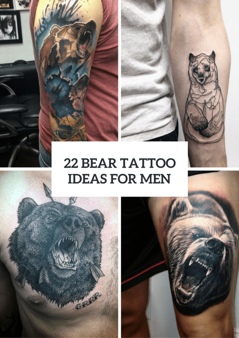 22 Bear Tattoo Ideas For Real Men Styleoholic Ideas And Designs