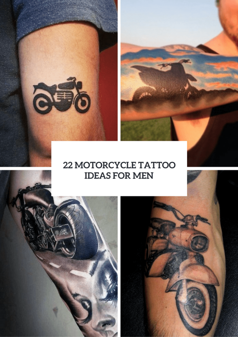 22 Men Motorcycle Tattoo Ideas To Repeat Styleoholic Ideas And Designs