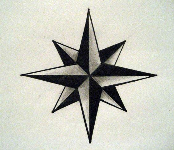 55 Amazing Nautical Star Tattoos With Meanings For Men And Ideas And Designs