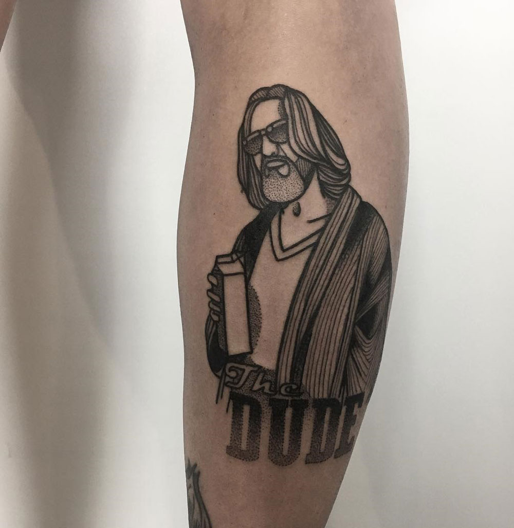 The Dude Jeff Bridges Tattoo From The Big Lebowski Best Ideas And Designs