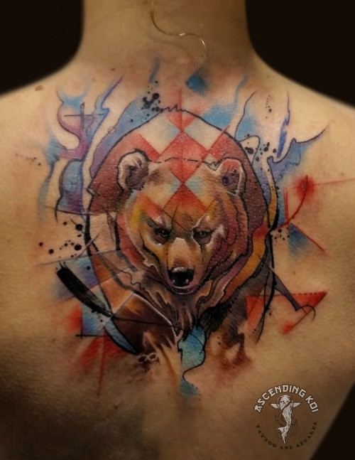 Watercolor Style Interesting Looking Back Tattoo Of Big Ideas And Designs