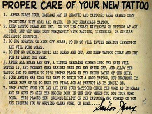 Proper Care Of Your New Tattoo – The Tattooed Lady Ideas And Designs