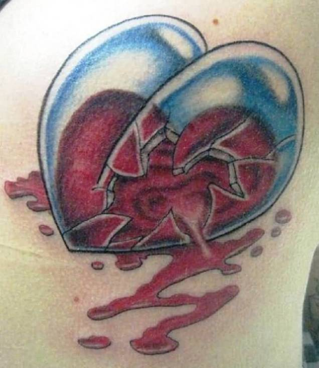 15 Most Amazing 3D Heart Tattoo Designs – Lovely Red Ideas And Designs