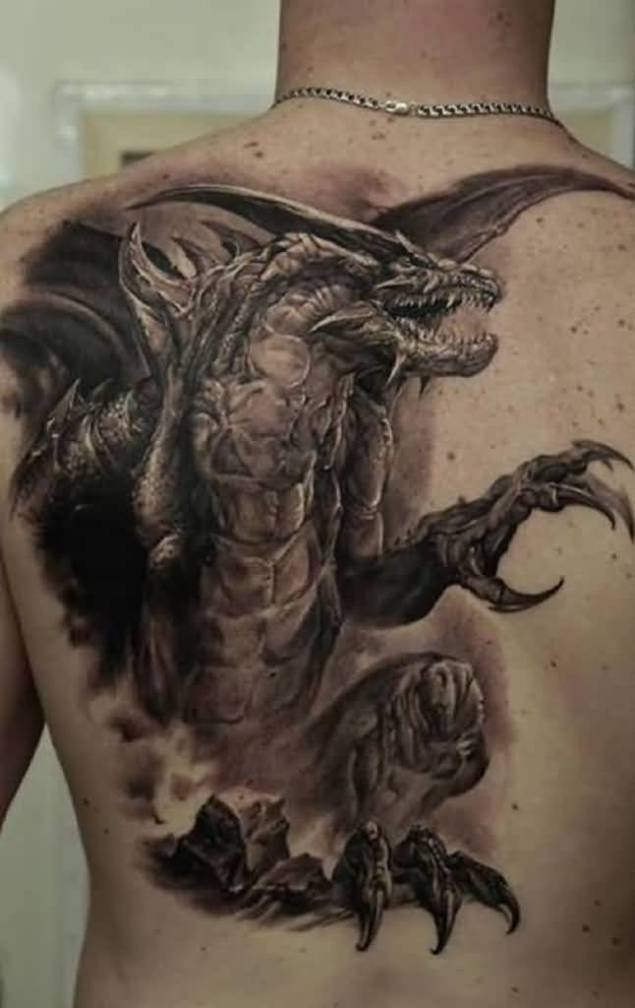 3D Dragon Tattoos – Page 2 – Truetattoos Ideas And Designs