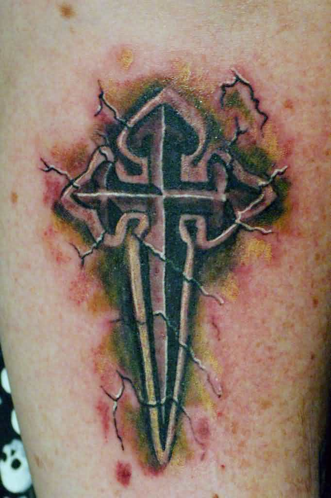 3D Cross Tattoos – Truetattoos Ideas And Designs