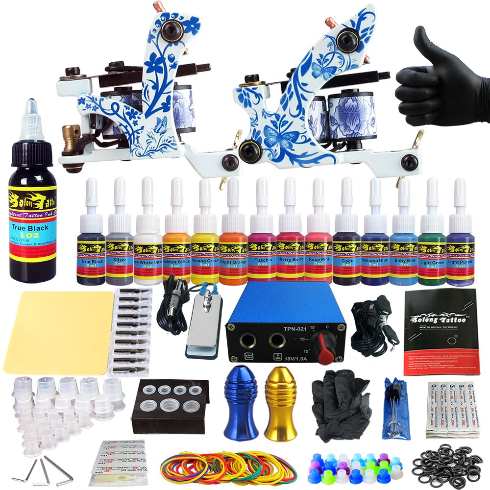 Solong Tattoo Complete Tattoo Kit For Beginner Starter 2 Ideas And Designs