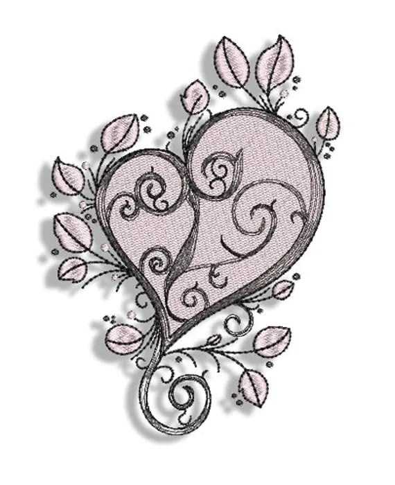 Tattoo Hearts Machine Embroidery Designs 4X4 5X7 Ideas And Designs