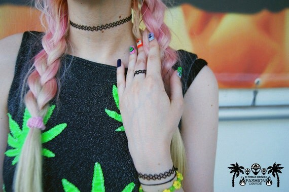 The 90S Tattoo Choker Bracelet Ring Set Ideas And Designs