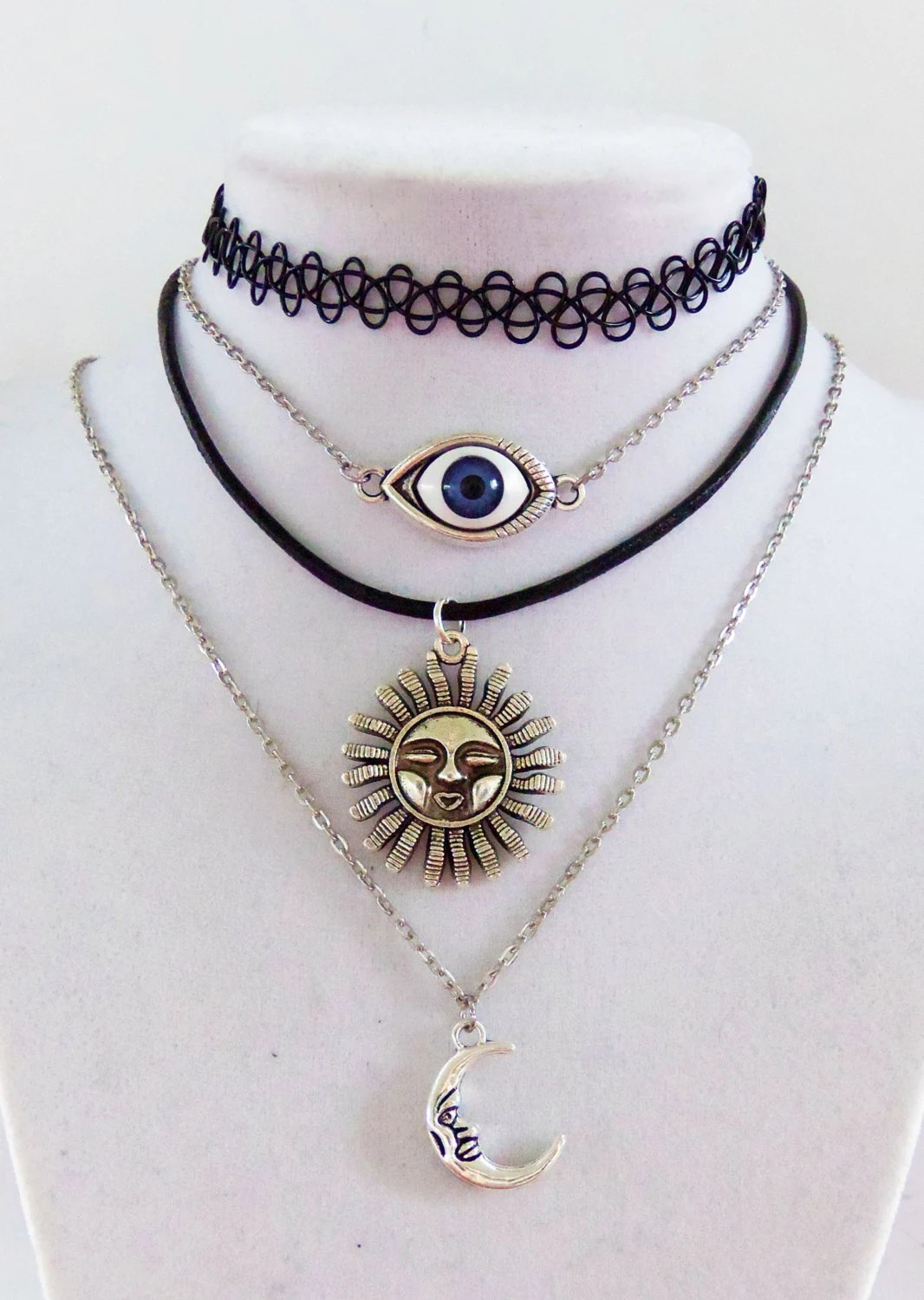 90S Style Grunge Choker Grunge Necklace Stretchy Tattoo Ideas And Designs