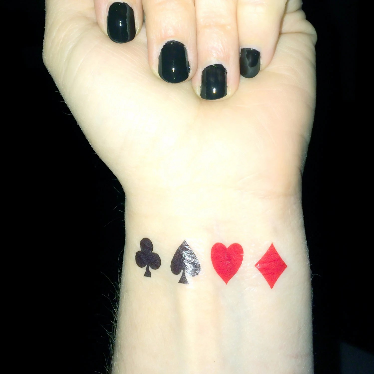 Playing Card Tattoo Poker Queen Of Hearts Club Diamond Ideas And Designs