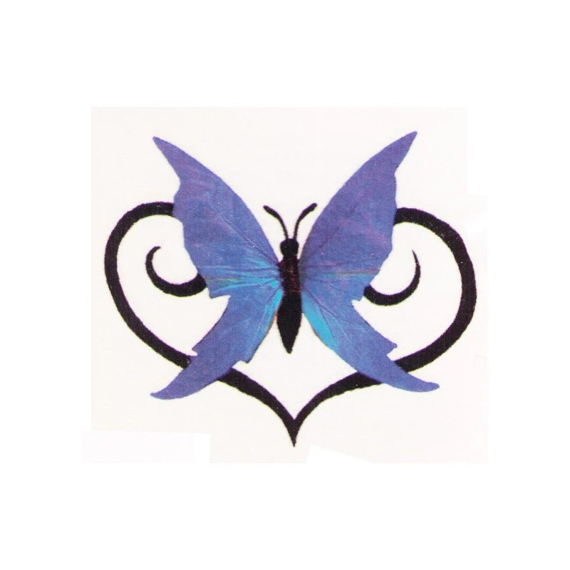 Butterfly Love Temporary Tattoo Design 2X2 Inch From Ideas And Designs