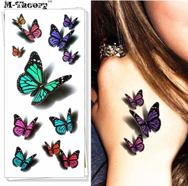 3D Temporary Butterfly Tattoo Sticker Body Art Removable Ideas And Designs