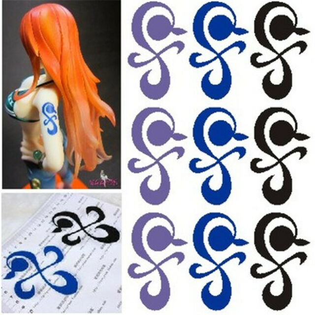 Anime One Piece Nami Cosplay Temporary Waterproof Tattoo Ideas And Designs