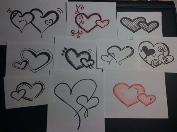 Top Two Hearts Intertwined Tattoos Images For Pinterest Ideas And Designs