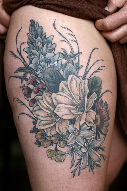 Floral Bouquet Tattoo Tumblr Ideas And Designs